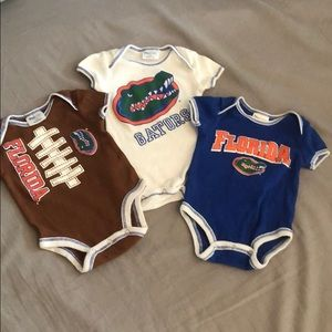 BRAND NEW Florida Gator onesies 0-3 months